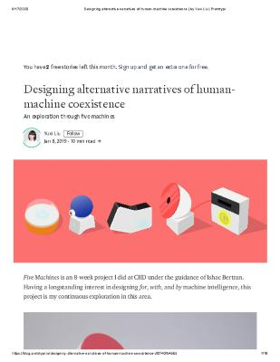 Designing alternative narratives of human-machine coexistence