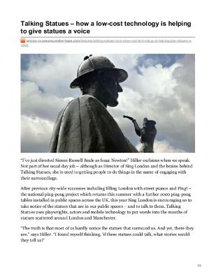 Talking Statues – How a Low-Cost Technology Is Helping to Give Statues a Voice