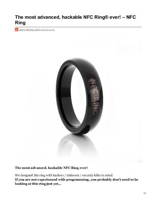 OMNI - The most advanced, hackable NFC Ring® ever!