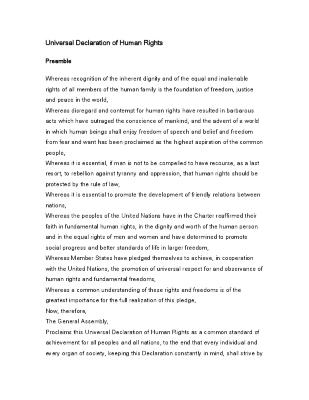 Universal Declaration of Human Rights  - United Nations