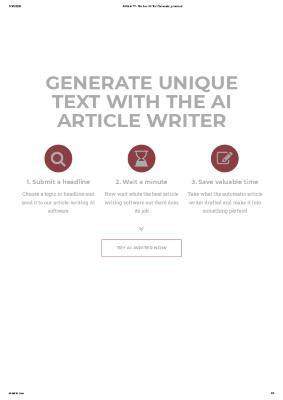 A.I. Writer website