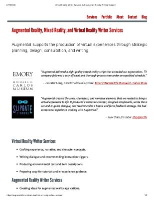 Augmental: Augmented Reality, Mixed Reality, and Virtual Reality Writer Services