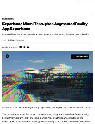 Experience Miami Through an Augmented Reality App Experience