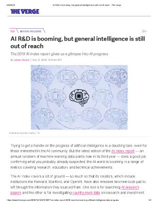 AI R&D is booming, but general intelligence is still out of reach