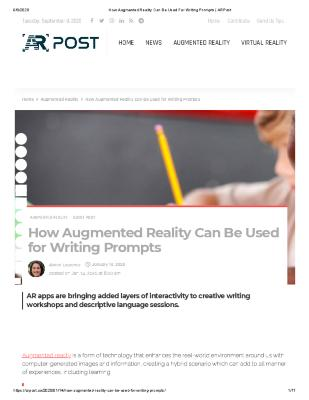 How Augmented Reality Can Be Used for Writing Prompts