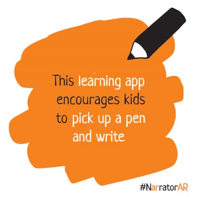 Narrator AR - Kids handwriting app