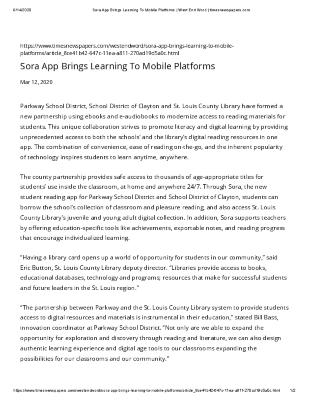 Sora App Brings Learning To Mobile Platforms