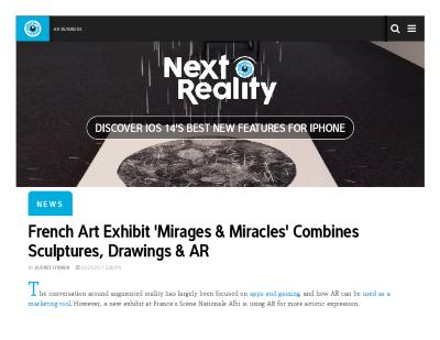 """French Art Exhibit 'Mirages & Miracles' Combines Sculptures, Drawings & AR."""