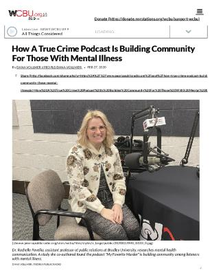 How A True Crime Podcast Is Building Community For Those With Mental Illness