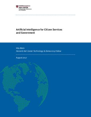 Artificial Intelligence for Citizen Services and Government