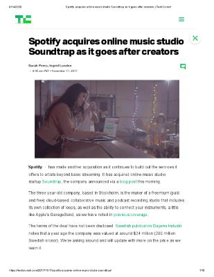 Spotify acquires online music studio Soundtrap as it goes after creators