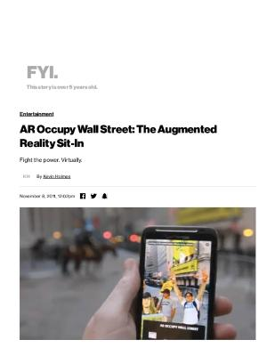 AR Occupy Wall Street: The Augmented Reality Sit-In