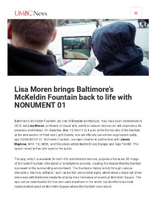 Lisa Moren Brings Baltimore's Mckeldin Fountain Back to Life with Nonument 01