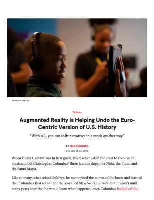 Augmented Reality Is Helping Undo the Euro-Centric Version of U.S. History