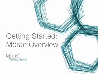 Getting Started 1: Morae Overview