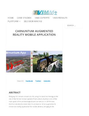 Carnuntum Augmented Reality Mobile Application