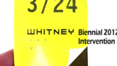 Whitney Biennial 2012 AR Intervention