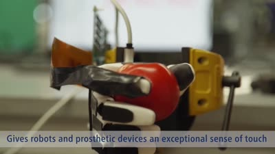Novel artificial nervous system gives robots an exceptional sense of touch
