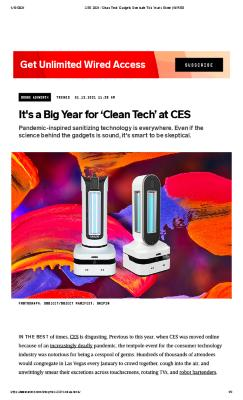 It's a Big Year for 'Clean Tech' at CES