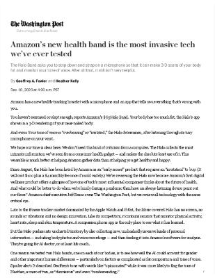 Amazon's new health band is the most invasive tech we've ever tested