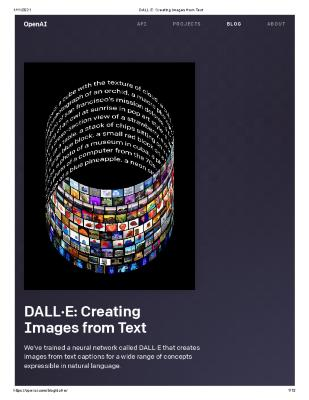 OpenAI DALL·E: Creating Images from Text