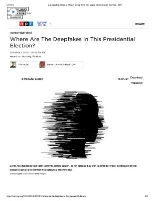 Where Are The Deepfakes In This Presidential Election?
