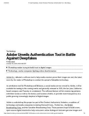 Adobe Unveils Authentication Tool in Battle Against Deepfakes