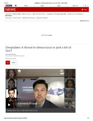 Deepfakes: A threat to democracy or just a bit of fun?