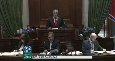 Tennessee Senate Session - 24th Legislative Day