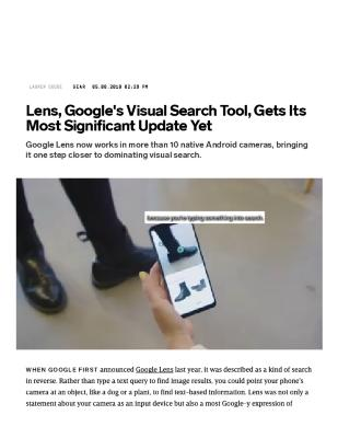 Lens, Google's Visual Search Tool, Gets Its Most Significant Update Yet