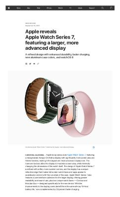 Apple reveals Apple Watch Series 7, featuring a larger, more advanced display