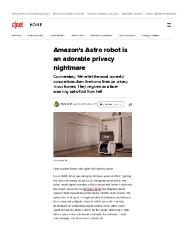 Amazon's Astro robot is an adorable privacy nightmare