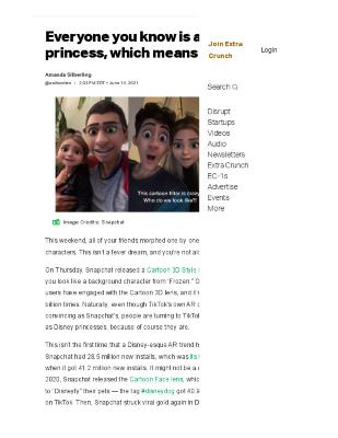 Everyone you know is a Disney princess, which means AR is queen