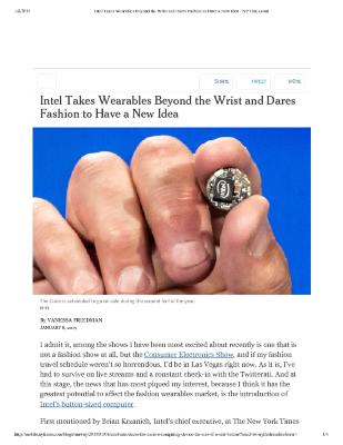 Intel Takes Wearables Beyond the Wrist and Dares Fashion to Have a New Idea - NYTimes.pdf
