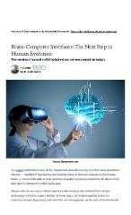 Brain-Computer Interfaces: The Next Step in Human Evolution